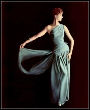 Marie-Hélène Arnaud wearing Grès 1955