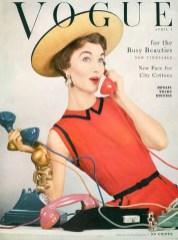 Evekyn Tripp in Vogue April 1953, photo by Erwin Blumnfeld