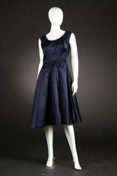 Navy cocktail dress late 1950s