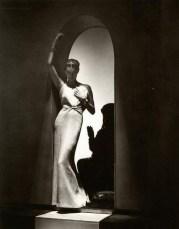 Margot Taylor in Lucien Lelong, Boucheron jewelry, Vogue 1937
