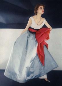 Suzy Parker wearing Jacques Fath,