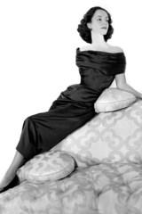 Gloria Guinness in a dress by Elsa Schiaparelli, 1949