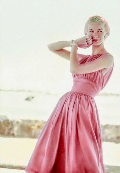 Sunny Harnett, photo by Leombruno, Glamour, 1954