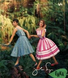 Jonathan Logan dresses designed by Jeanne Carr, 1959