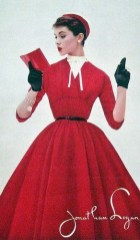 Red dress 1950s