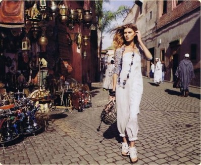 Marrakech moment, Harper's Bazaar March 2010