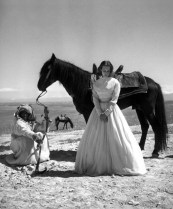 Taina Elg by Georges Dambier for Elle April 1953 in Morocco