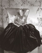 Alix, satin dress, 1938