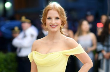 """NEW YORK, NY - MAY 01: Jessica Chastain attends the """"Rei Kawakubo/Comme des Garcons: Art Of The In-Between"""" Costume Institute Gala at Metropolitan Museum of Art on May 1, 2017 in New York City. (Photo by Dimitrios Kambouris/Getty Images)"""