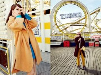 Kate Pernell hits Brighton Beach for the January issue of Elle Poland