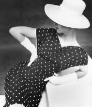 Mirella Petteni in polka-dot summer dress by Uli Richter, photo by F.C. Gundlach, 1964