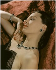 Meg Mundy in Cartier jewels, Vogue