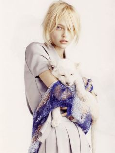 Sasha Pivovarova photographed by Mark Segal for Vogue Paris