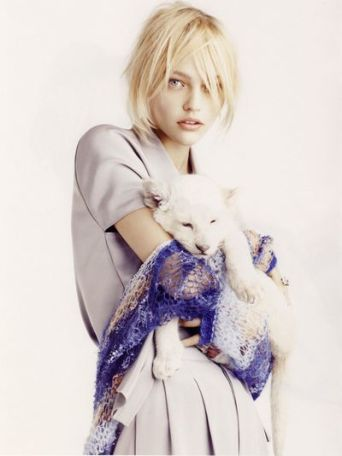 Sasha Pivovarova photographed by Mark Segal for Vogue Paris