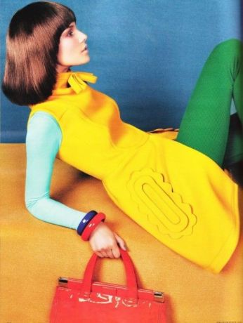 "Suvi Koponen in ""COLOR UP!"" Photographed by Sebastian Kim and Styled by Kate Mossman for VOGUE GERMANY October 2010"