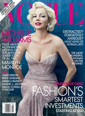 Michelle Williams as Marilyn Monroe by Annie Leibovitz for Vogue October 2011