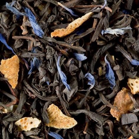 Flocon d'épices by Dammann : Perfumed black tea (cherry, almond, ginger and gingerbread) : Perfumed black tea (cinnamon, nutmeg, clove, orange peel and cornflower petals)