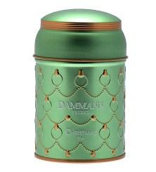 Christmas green tea by Dammann : Perfumed green tea (orange, vanilla, cinnamon, almond, ginger, orange peel and apple)