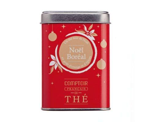 Noel boréal by Comptoir Français du thé : Perfumed black tea (orange, spices, almond, cinnamon, star anise, apple and ginger)