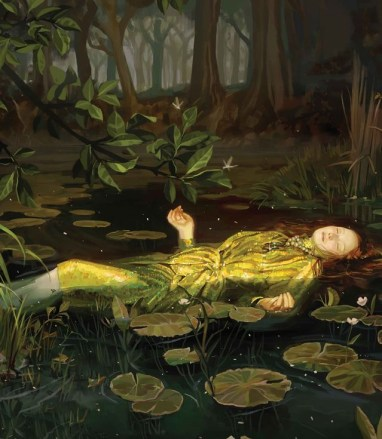 Gucci ad INSPIRED BY OPHELIA (1852) BY JOHN EVERETT MILLAIS, TATE GALLERY, LONDON.
