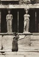 Isadora Duncan at the Caryatid porch of the Erechtheion, Athens, 1920