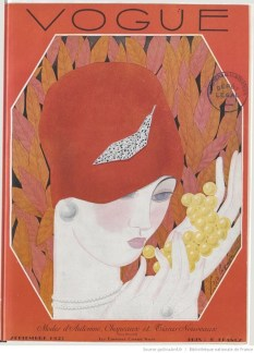 Vogue cover September 1927 by Georges Lepape