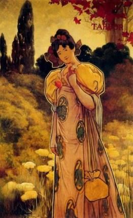 Alexandre de Riquer, panneau décoratif Automne, 1897, Les quatre saisons