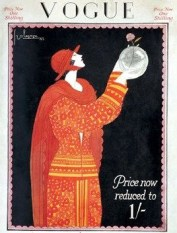 Vogue cover September 1923 by Georges Barbier