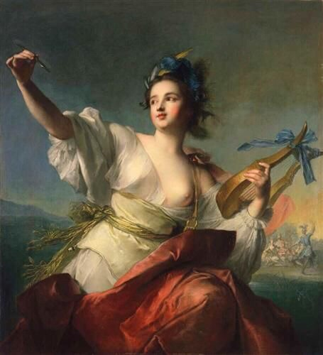 «Terpsichore, muse de la dance» by Jean-Marc Nattier, 1739