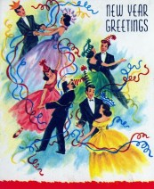 New year greetings vintage