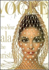 Wilhelmina on the cover of Vogue December 1965, photo by Irving Penn