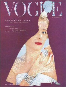Vogue December 1953, photo by Erwin Blumenfeld