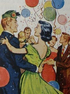New year party 1950s