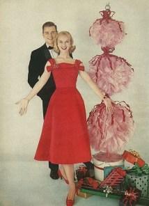 1957 tulle topiari for christmas