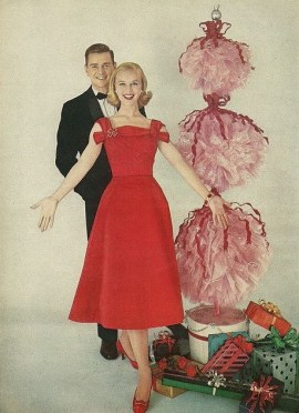 1957 tulle topiari for christmas