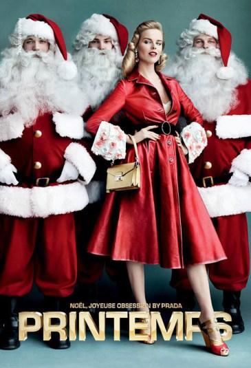 Printemps Paris christmas photoshoot