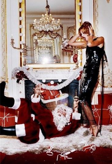 Ellen Von Unwerth christmas photoshoot