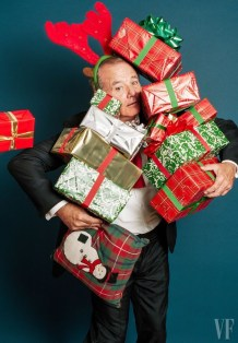 Bill Murray by Bruce Weber for Vanity Fair November 2015, Christmas editorial