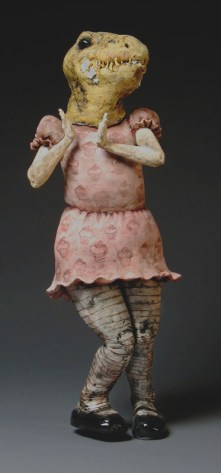 "Ate the Cake, 2006, terracotta, 27"" x 8"" x 10"""