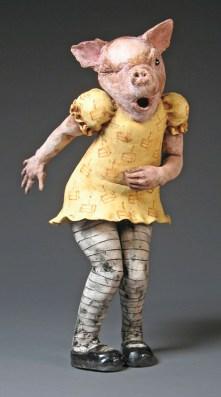 "Too Much Cake, 2006, terracotta, 25"" x 10"" x 12"""