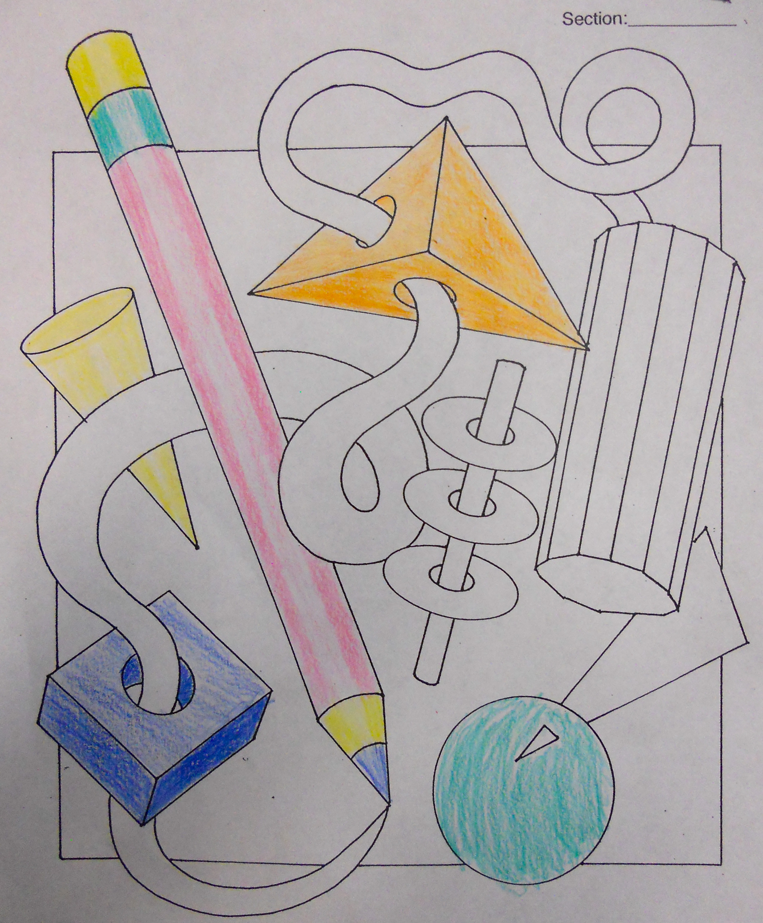 6th Grade Colored Pencil Unit