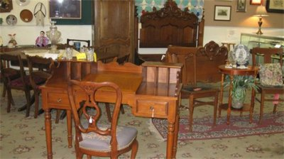 Antique Vintage Furniture - Desk, Chair, Armoire, Table and Chairs, 1800s Bed from Austria