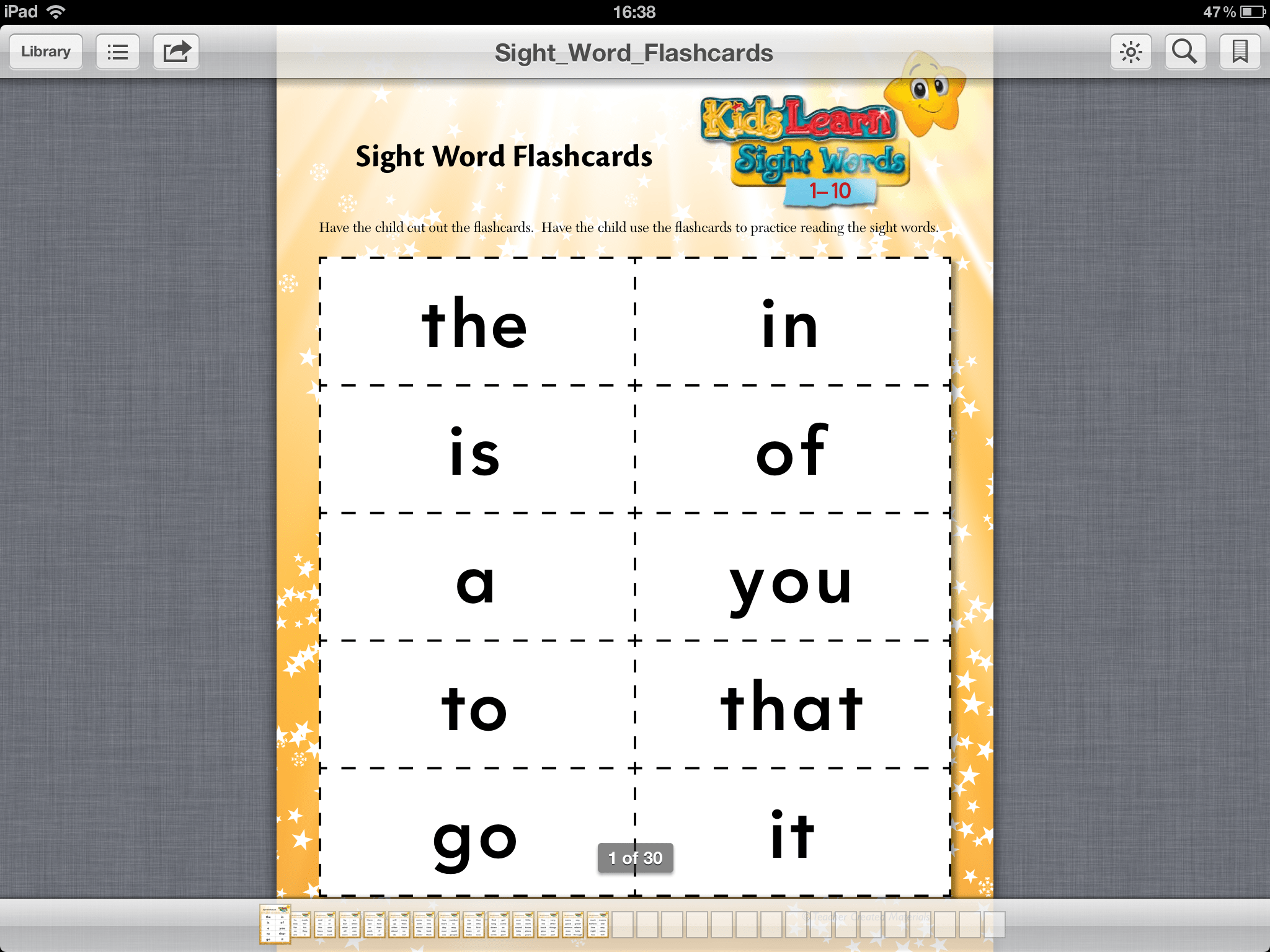 Free Sight Word App Missmernagh