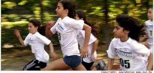 Women running in a race