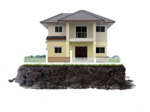 Foundation of a house, house, foundation