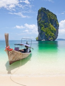 A beatiful beach in Thailand