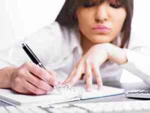 woman writing, freelance writing