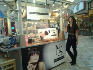 Janelle at her NS Mineral mall kiosk