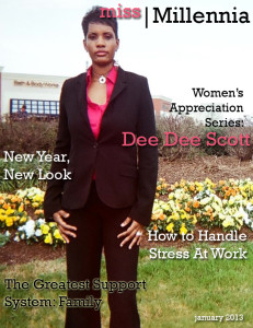 Author Dee Dee Scott for Miss Millennia magazine
