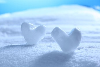 hearts made of snow